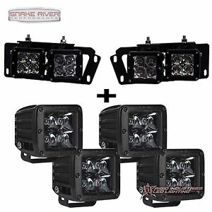 Rigid Industries For 10 17 Dodge Ram 2500 3500 Midnight Led Fog Light Kit