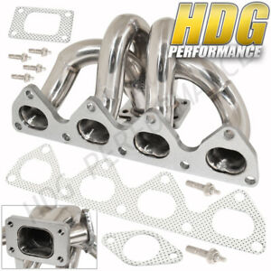 1992 2001 Honda Prelude H22 T3 T4 Stainless Racing Turbo Exhaust Manifold Header