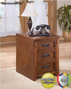 Cross Island Traditional Med Brown Oak Wood File Cabinet Mission Style Medium
