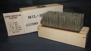 Mil Spec Box Of 1 4w Watt Carbon Comp 5 Resistors 51 Ohm 1000 Pieces