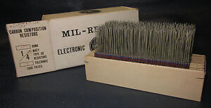 Mil Spec Box Of 1 4w Watt Carbon Comp 5 Resistors 620 Ohm 1000 Pieces