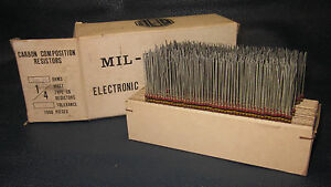 Mil Spec Box Of 1 4w Watt Carbon Comp 5 Resistors 200k Ohm 925 Pieces
