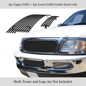 Fits 1997 1998 Ford F 150 4wd Bar Expedition Stainless Black Billet Grille Combo