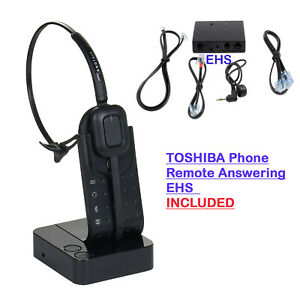Wireless Headset Toshiba Phone Dp5132 sd Ip5022 sd Ip5122 sd Remote Hook On