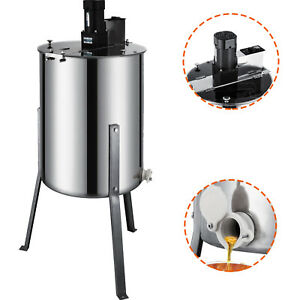 Four 4 Frame Stainless Steel Honey Extractor Electric Beehive 120w Motor