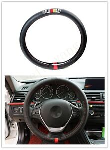 1pcs For Ralli Art Movement Black Carbon Fiber Car Non slip Steering Wheel Cover