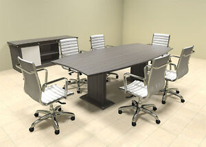 Modern Contemporary Boat Shaped 8 Feet Conference Table mt ste c4