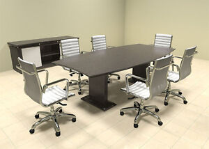 Modern Contemporary Boat Shaped 8 Feet Conference Table mt ste c6