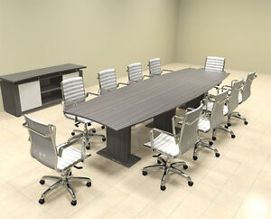 Modern Contemporary Boat Shaped 12 Feet Conference Table mt ste c10