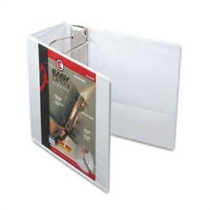 Easyopen Clearvue Locking Slant d Ring Binder 5 White X 3