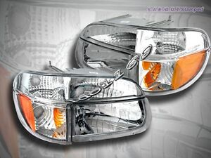 95 98 01 Ford Explorer 97 Mercury Mountaineer Clear Headlights Corner 4pcs New