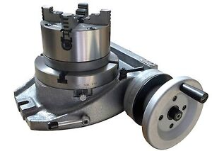 The Adapter And 4 Jaw Chuck For Mounting On A 6 Rotary Table Table Included