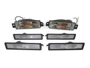 6pcs Clear Bumper Signal Front Rear Side Marker Light For 89 91 Bmw E30 3 Series
