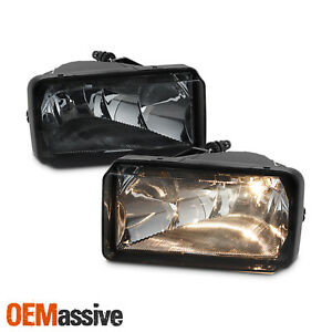 Fits 07 13 Silverado Suburban Tahoe Avalanche Bumper Smoked Fog Lights W Bulbs