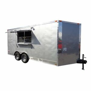 Concession Trailer 8 5 X 16 Silver Frost Vending Catering