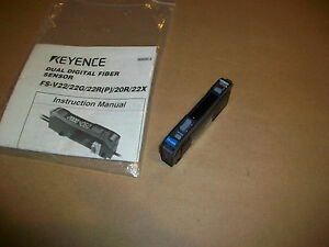 Keyence Fiber Optic Sensor Amplifier Fs v20r New
