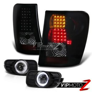 For 99 03 Grand Cherokee Jeep Halo Projector Fog Lamp black Smoke Led Tail Light