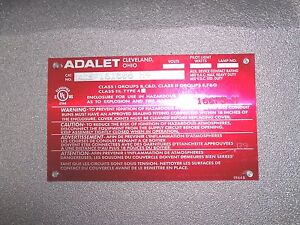 Adalet Xce 161608 n4 Ul Classified Explosion Proof Enclosure New
