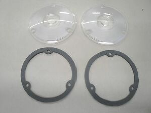1957 1958 57 58 Ford Truck Clear Park Light Lenses And Gaskets New