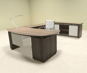 2pc Modern Contemporary L Shaped Executive Office Desk Set mt ste l5