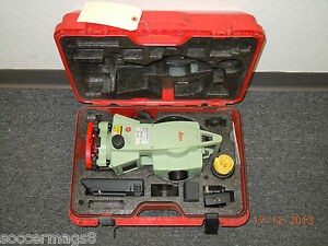 Leica Tc703 Auto Motorized Total Station 3 Sec Gun Dual Display