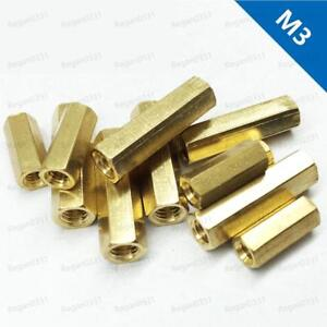 M3 Female Brass Hex Column Standoff Support Spacer Pillar For Pcb Board