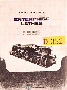 Enterpricse Dh Dm H Lathes Specs And Wiring Manual