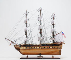 Uss Constitution Old Ironsides Wooden Tall Ship Model 38 Handbuilt