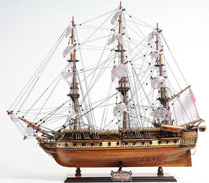 Uss Constitution Old Ironsides Wooden Tall Ship Model 29 Handbuilt T097