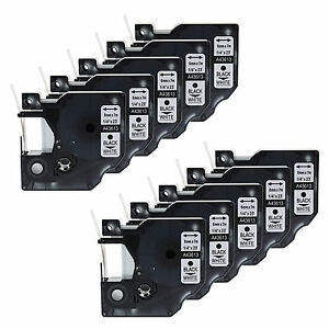 10pk 1 4 Black On White Tape For Dymo D1 43613 Labelmanager 100 Label Maker