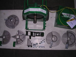 Greenlee 555 Conduit Pipe Bender 5 Shoes 4 Rollers 1 2 To 2 Emt Ridgid Imc