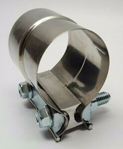 Mvp 2 Stainless Steel Stepped Lap Joint Exhaust Muffler Pipe Clamp Jl20st Usa