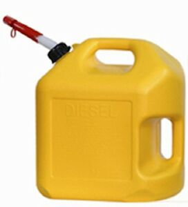 Midwest 8600 5 Gallon Yellow Poly Diesel Fuel Can Container W Spout