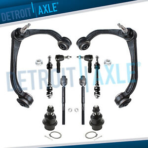 05 11 Dodge Dakota Raider 10pc Control Arm Ball Joint Sway Bar Link Tie Rods