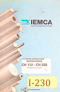 Iemca Ch 112 And Ch220 Auto Bar Feeder Rapid Operations Manual