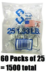 60 Ea Chicago Heights M005fast25rg025 25 Packs T post Fence Post Clip Fastener