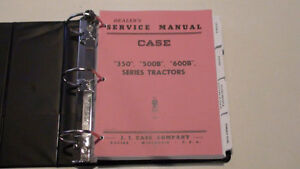 Case 350 500b 600b Tractor Dealer Service Manual Repair Shop Book New W binder