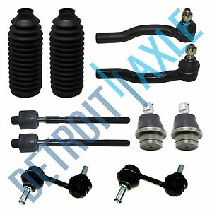 10pc Front Suspension Sway Bars Tie Rod Kit For Nissan Titan And Armada 5 6l
