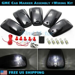 Smoked Cab Roof Light Top Marker White Led Bulb Wiring For C1500 C2500 88 99