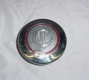Large Vtg Antique Chrysler Screw On Hubcap Imperial 1928 1929 1930 1931 1932