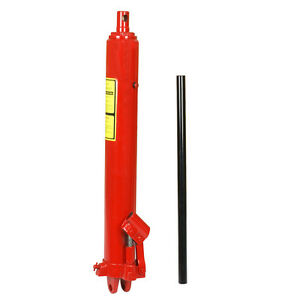 8 Ton Hydraulic Long Manual Ram Jack Pump Engine Lift Hoist Cherry Picker
