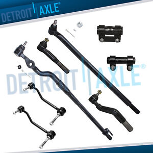 8pc Drag Link Inner Outer Tie Rod Linkage Ford Excursion F 250 Super Duty 4x4