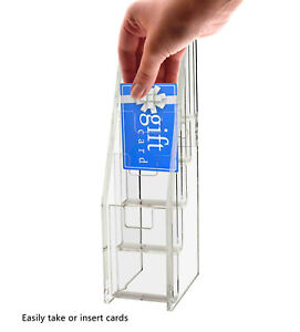 5 Tier Gift Business Card Holder Stand Display Clear Acrylic Counter Or Desk