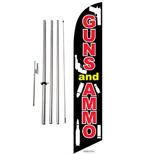 Guns And Ammo Sale Feather Banner Swooper Flag Kit With Pole spike