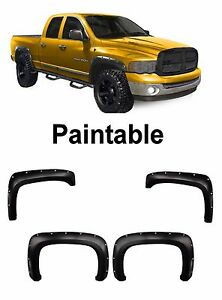 Fender Flares Pocket Rivet Bolt On Dodge Ram 1500 2500 3500 Paintable