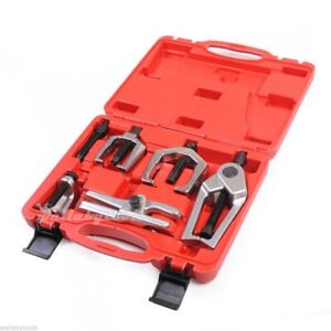 5pc Front End Ball Joint Service Tie Rod Tool Kit Set Pitman Arm Puller Remover