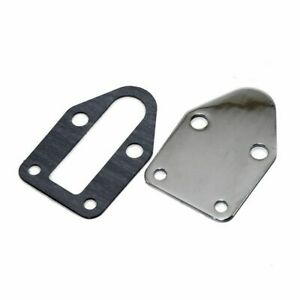 Sbc Chevy Chrome Fuel Pump Block Off Plate