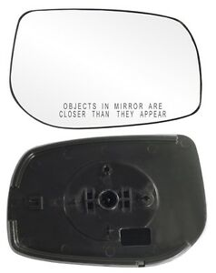 2009 2013 Toyota Corolla Passenger Side Power Mirror Glass With Backing Plate