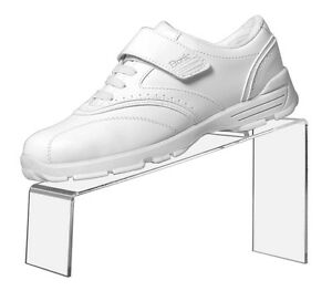 Retail Stand Clear Acrylic Slanted Shoe Stand Holder Display 9 l X 4 w X 5 h