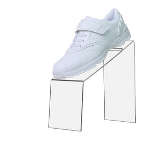 Clear Slanted Acrylic Shoe Riser Display Stand Holder 9 l X 4 w X 9 h
